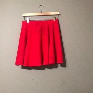 Moxeay Red Skater Skirt Size Medium
